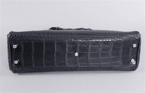 Belluci Purse Style Cartier Marcello De Cartier Tote Panthere Deco Clutch by Cartier Marcello De Cartier Black Matte Crocodile Bag