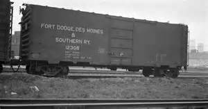 Fort Dodge To Des Moines Fort Dodge Des Moines And Southern Rly Boxcar 12305