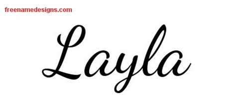 layla tattoo designs lively script name designs layla free printout