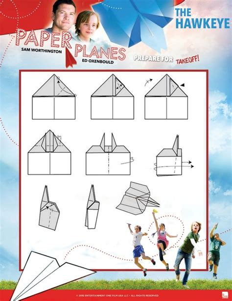 How To Make The Hawkeye Paper Airplane - free printable hawkeye paper airplane tutorial
