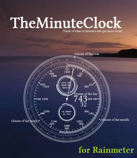 rainmeter themes clock theminuteclock for rainmeter by unistructure on deviantart
