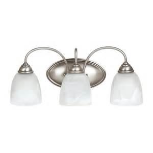 Menards Brushed Nickel Vanity Light Shop Sea Gull Lighting Lemont 3 Light Antique Brushed