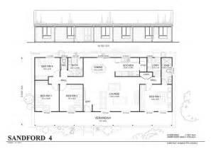 Kit Home Floor Plans Simple 4 Bedroom Floor Plans Sanford 4 Met Kit Homes