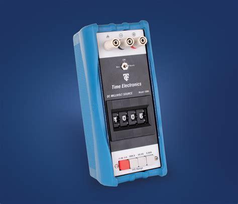 portable dc millivolt source time electronics