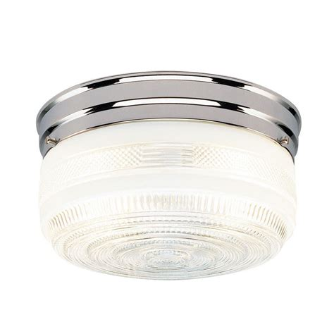 Flush Glass Ceiling Light Westinghouse 2 Light Ceiling Fixture Chrome Interior Flush Mount With White And Clear Glass