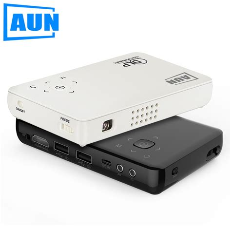 Proyektor For Android aun projector am1sp built in 2500mah battery android 4 4
