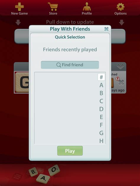 problem with scrabble app solved i cannot see my friends list on scrabble