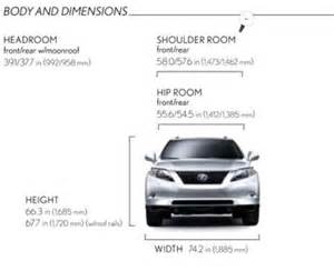 Lexus Rx 350 Cargo Dimensions Rx Width Can Someone Measure The Width Of The Rx With The