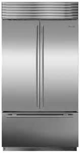 sub zero stainless 24 cu ft built in door fridge