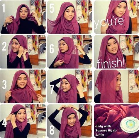 tutorial hijab paris segi empat ala zaskia sungkar contoh tutorial hijab segi empat kreasi terbaru 2017 2018
