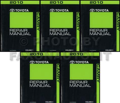 2010 toyota camry hybrid repair shop manual original 4 volume set