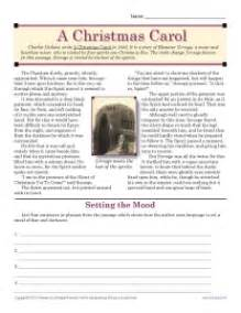 a christmas carol christmas worksheet for middle school