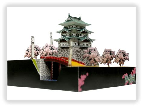 Papercraft Architecture - hirosaki castle papercraft japanese architecture model kit