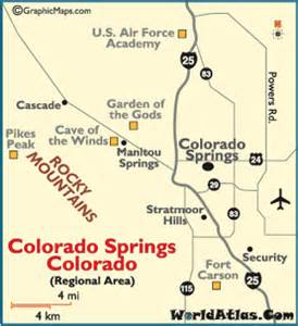 colorado springs map map of colorado springs things to