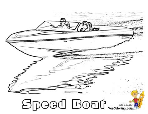 Speed Boat Coloring Pages rugged boat coloring page boats free ship coloring