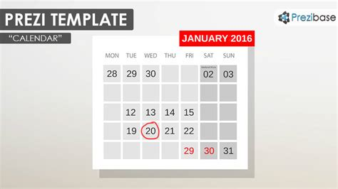 prezi templates for business plan calendar prezi template prezibase