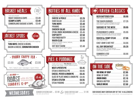 large print menu the