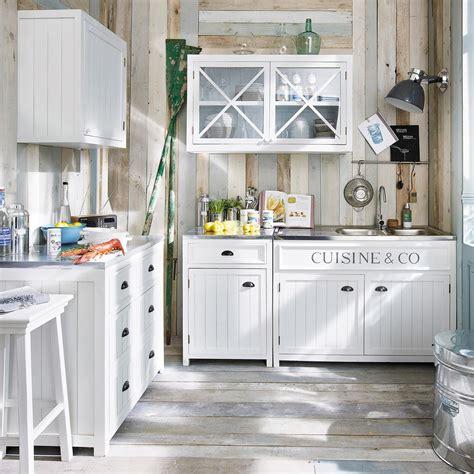 element bas cuisine meuble bas de cuisine en bois blanc l 90 cm newport maisons du monde