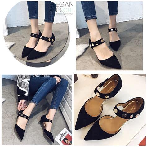 S1219 Sepatu High Heel Impor Wanita Import Highheel jual shh6601 black sepatu heels import cantik 6cm
