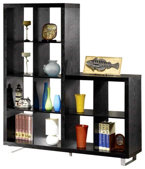 asymmetrical cube bookcase with shelves asymmetrical cube bookcase contemporary bookcases by