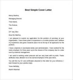 easy cover letter template sle cover letter template 8 free documents