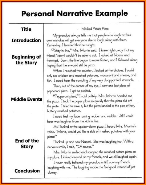 10 topic suggestions for narrative essays personal narrative exles 3rd grade exles and forms