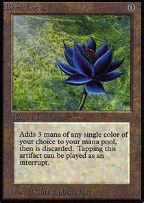 Lotus Cards Mtg Magic Card Black Lotus