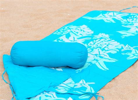 Roll Up Mat With Pillow by Towel And Roll Up Mat Neck Roll Pillow Fish Ecoliving Collection