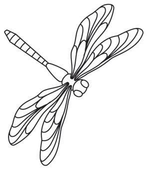 dragonfly template free dragonflies threads unique and awesome embroidery