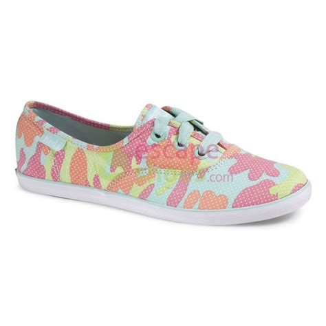 sneakers keds wf46426 ch lo camo pink escapeshoes