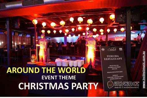 fun themed events for work around the world event theme christmas party instinct