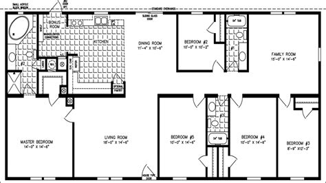 5 bedroom 3 bath mobile home floor plans spacious double wide manufactured floorplans in new mexico