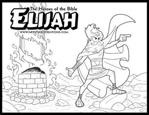 free bible coloring pages elijah the heroes of the bible coloring pages elijah