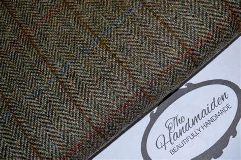 Harris Upholstery by Harris Tweed Fabric Labels 100 Wool Tartan Herringbone Upholstery Patchwork Handmaiden Uk