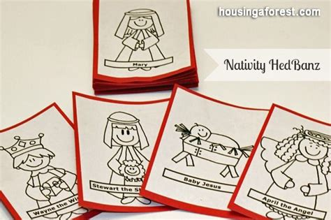 Hedbanz Cards Template by Free Origami Nativity Coloring Pages