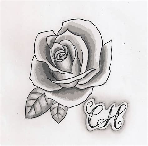 rose tattoos in black and white gaeroladid white drawing images