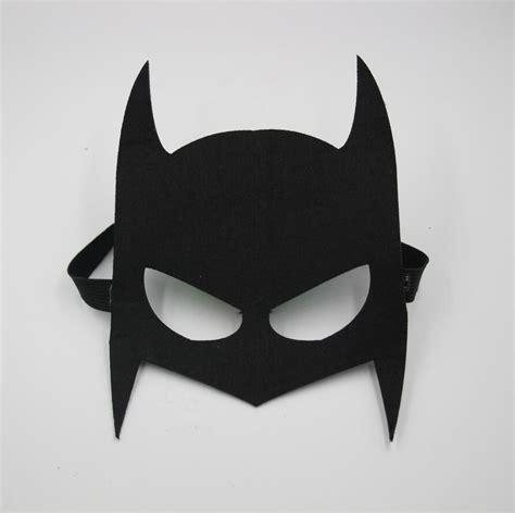 How To Make Paper Batman Mask - 10pcs lot felt mask cool black batman