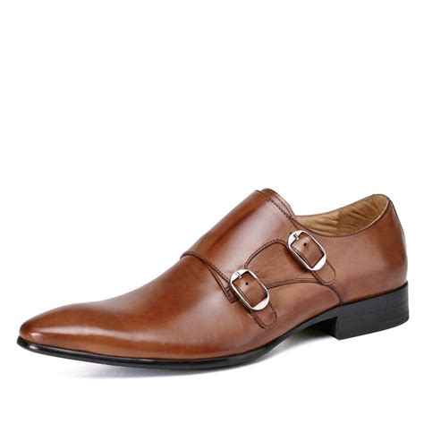 buckle mens shoes designer leather buckle monk shoes for cw761355