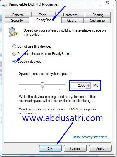 Ram Eksternal Laptop cara membuat flashdisk menjadi ram eksternal di windows 7