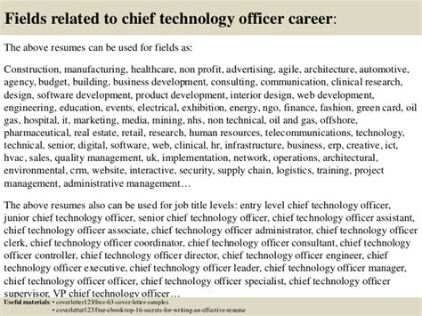 Chief Technology Officer Cover Letter by Top 5 Chief Technology Officer Cover Letter Sles