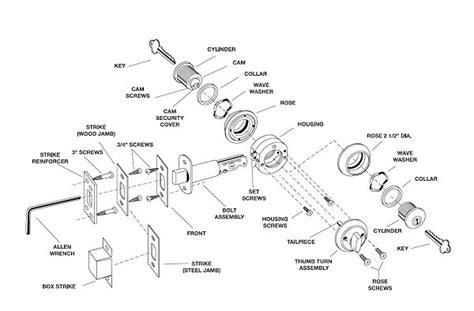 schlage deadbolt parts diagram parts for ilco lori deadbolt
