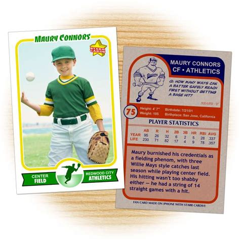 baseball card database template custom baseball cards retro 75 series cards