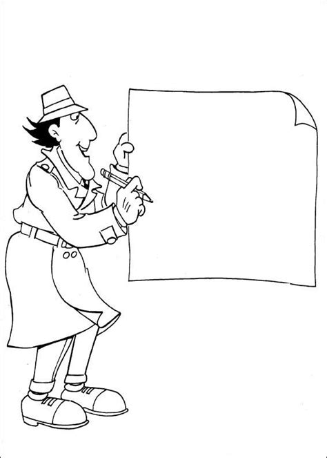 Free Printable Coloring Pages For Children A Coloring Book Inspector Gadget Coloring Pages