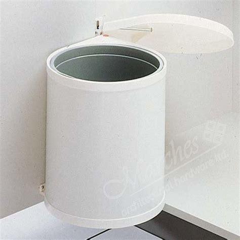 cream swing bin swing out waste bin 12ltr cream white bins hinged door