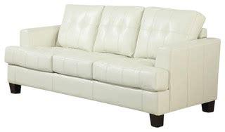 cream sleeper sofa coaster samuel bonded leather sleeper sofa in cream