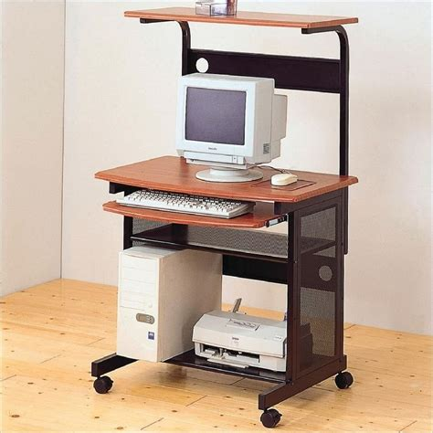 Desk With Computer Storage Narrow Computer Desks For Small Spaces Minimalist Desk Design Ideas