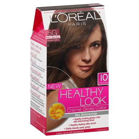Dijamin Tancho Treatment Hair Dye L l oreal healthy look hair dye creme gloss color medium golden brown 5g 1 application