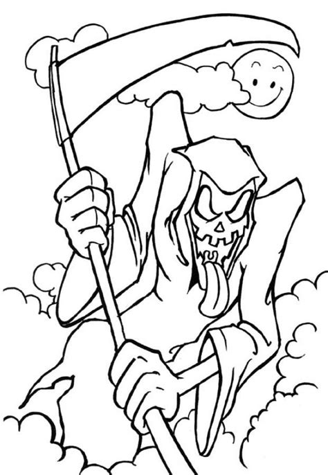 halloween coloring pages pinterest scary halloween mask coloring pages scary halloween