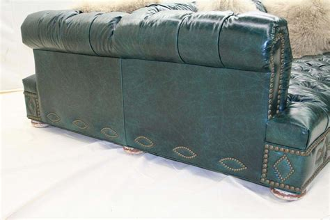 turquoise leather sofa double turquoise leather sofa old hickory tannery