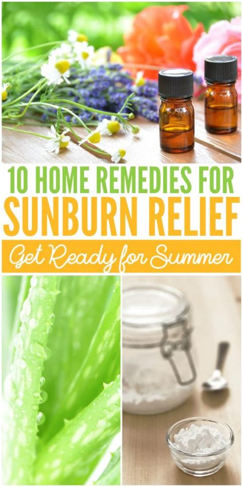 10 easy home remedies for sunburns